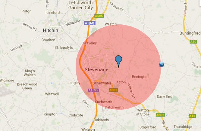 Areas Covered - Stevenage