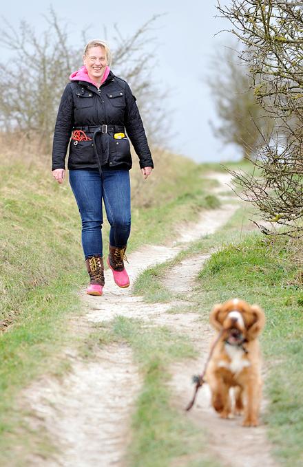 Kerry dog walking in Stevenage